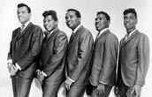 The Drifters 1963 - L-R Gene Pearson, Johnny Terry, Johnny Moore, Charlie Thomas and Rudy Lewis